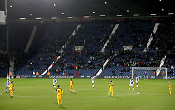A general view of fans in the stands as the game goes into extra time