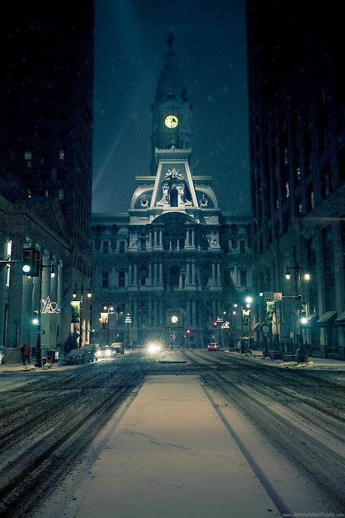 City Hall Philadelphia, Snowstorm 2011