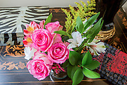 Pink Roses arrangement in a house