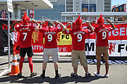 Manchester United fans with shirts during the AON Tour 2017 match between Real Madrid and Manchester United at the Levi's Stadium, Santa Clara, USA on 23 July 2017.