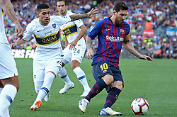 August 15, 2018 - Barcelona, Spain - Leo Messi and Olaza during the match between FC Barcelona and C.A. Boca Juniors, corresponding to the Joan Gamper trophy, played at the Camp Nou, on 15th August, 2018, in Barcelona, Spain. (Credit Image: © Joan Valls/NurPhoto via ZUMA Press)