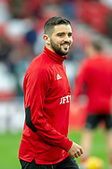 Alim Ozturk (#5) of Sunderland AFC warms up before the EFL Sky Bet League 1 match between Sunderland AFC and Luton Town at the Stadium Of Light, Sunderland, England on 12 January 2019.