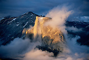 Half Dome in clearing storm from Sentinal Dome, Yosemite National Park, California