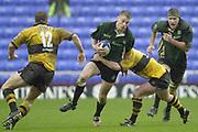 24/02/1002<br /> Rugby - Zurich Premiership<br /> Madejski Stadium - Reading - Berks<br /> London Irish v Wasps:<br /> Exiiles full back, Michael Horak look's for the gap. ' [Mandatory Credit: Peter Spurrier/Intersport Images],