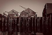 The pier in the fishing village of Girabaldi, Oregon.