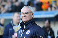 Claudio Ranieri, the Leicester City manager looking on from the touchline before k/o. The Emirates FA Cup 5th round match, Millwall v Leicester City at The Den in London on Saturday 18th February 2017.<br /> pic by John Patrick Fletcher, Andrew Orchard sports photography.