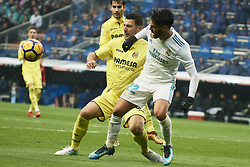 January 13, 2018 - Madrid, Spain - Isco (midfielder; Real Madrid) in action during La Liga match between Real Madrid and Villareal CF at Santiago Bernabeu on January 13, 2018 in Madrid (Credit Image: © Jack Abuin via ZUMA Wire)