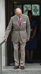 © London News Pictures. 09/06/2012. London, UK. Prince Philip, The Duke of Edinburgh leaving King Edward VII hospital in London on June 09, 2012 in time to spend his 91st birthday at home tomorrow (Sunday). The Duke of Edinburgh had spent five nights in hospital in Central London after falling during the Queens Diamond Jubilee celebrations. Photo credit: Ben Cawthra/LNP