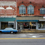 Salisbury, NC -  December 6, 2016:  Downtown Salisbury, the hometown of Edgar Welch,  sits decorated for the upcoming holiday.  2 days earlier, Welch walked into the Comet Ping Pong in Washington DC and fired a weapon because he was investigate a false election related conspiracy theory involving Hillary Clinton that spread online.  CREDIT: LOGAN R CYRUS