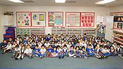 Monarch Christian Preschool & Kindergarten students pose for a portrait at Monarch Christian Preschool & Kindergarten in Milpitas, California, on September 12, 2014. (Stan Olszewski/SOSKIphoto)