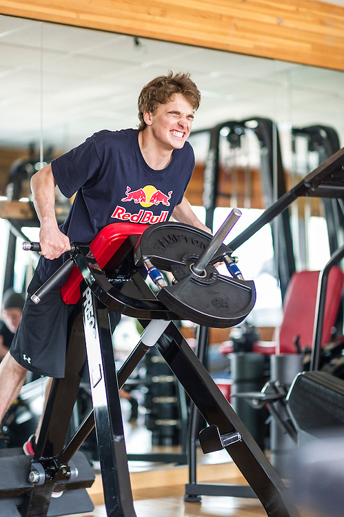 Nick Goepper trains at the RedBull Performance Camp in Aspen Colorado, United States on April 14th, 2013
