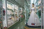 Bridal shop window, downtown Cuernavaca, Morelos, Mexico.