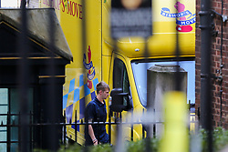 © Licensed to London News Pictures. 25/07/2019. London, UK. A removal van is seen at the rear of Downing Street to collect Theresa May's belongings. Photo credit: Dinendra Haria/LNP