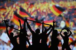 03.10.2015, Frankfurt am Main, GER, Tag der Deutschen Einheit, im Bild Schattenspielinszenierung beim Festakt in der Alten Oper Frankfurt zu Geschehnissen nach der Einheit 1990: Sommermärchen 2006 // during the celebrations of the 25 th anniversary of German Unity Day in Frankfurt am Main, Germany on 2015/10/03. EXPA Pictures © 2015, PhotoCredit: EXPA/ Eibner-Pressefoto/ Roskaritz<br /> <br /> *****ATTENTION - OUT of GER*****