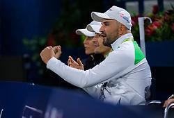 February 19, 2019 - Dubai, ARAB EMIRATES - Karolina Pliskovas Team in action during her second-round match at the 2019 Dubai Duty Free Tennis Championships WTA Premier 5 tennis tournament (Credit Image: © AFP7 via ZUMA Wire)