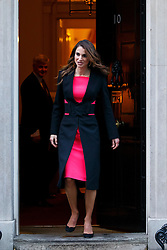 © Licensed to London News Pictures. 08/01/2016. London, UK. Queen Rania of Jordan leaving Downing Street after a meeting with Prime Minister David Cameron on Friday, 8 January 2015. Photo credit: Tolga Akmen/LNP