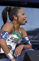 Christine Milian performing at the United We Stand: What More Can I Give?  benefit concert at RFK Stadium in Washington, DC.  October 21, 2001 (Photo by Jeff Snyder)
