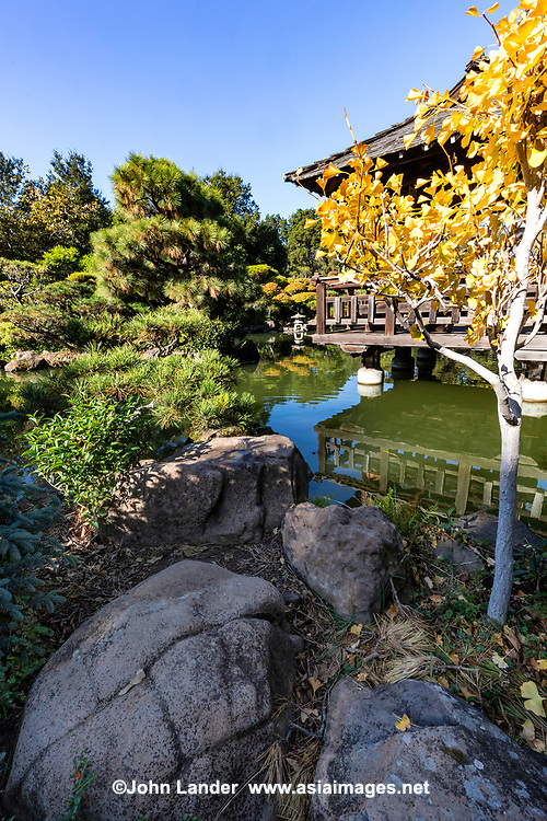 The Hayward Japanese Garden is one of the oldest Japanese gardens in California.  It was designed along traditional lines by Kimio Kimura following Japanese garden design principles, using California native plants & stones. Nails  have been hidden and recessed to simulate Japanese carpentry and garden techniques. The site was formerly part of Hayward High School. The garden is maintained by the Hayward Area Recreation and Park District