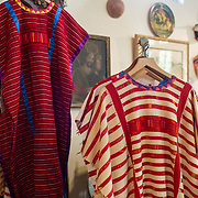 Tucson, AZ -- 09/28/2017<br /> <br /> La Cabaña at the Mercado owner Pamela Tillman is a former art history teacher and a collector of fine antiques, including handpicked antique serapes and traditional Talavera pottery. <br /> <br /> Mercado San Agustin, Tucson's only public marketplace with local shops, restaurants, and a weekly farmers market held on Thursdays.<br /> <br /> Photography by Jill Richards