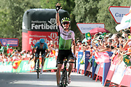 Arrival, Benjamin King (USA - Dimension Data) winner, during the UCI World Tour, Tour of Spain (Vuelta) 2018, Stage 4, Velez Malaga - Alfacar Sierra de la Alfaguara 161,4 km in Spain, on August 28th, 2018 - Photo Luis Angel Gomez / BettiniPhoto / ProSportsImages / DPPI