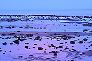 Gulf of St. Lawrence at dusk<br /> Baie Comeau<br /> Quebec<br /> Canada