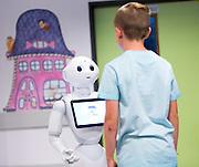 Liege - Luik , 13/06/2016<br /> <br /> Demonstration pour la presse d'un robot humanoide pour guider les patients a l hopital CHR Citadelle // Demonstratie voor de pers van een humanoide robot om patienten te begeleiden in het CHR Citadelle ziekenhuis <br /> <br /> Credit : Denis  Closon / Isopix *** local caption *** 22562986