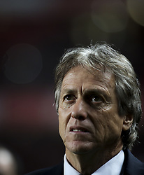 January 3, 2018 - Lisbon, Portugal - Sporting's coach Jorge Jesus looks on during the Portuguese League  football match between SL Benfica and Sporting CP at Luz  Stadium in Lisbon on January 3, 2018. (Credit Image: © Carlos Costa/NurPhoto via ZUMA Press)