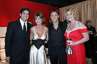 28 April 2006: Lisa Rinna and Ty Treadway of Soap Talk in the exclusive behind the scenes photos of celebrity television stars in the STAR greenroom at the 33rd Annual Daytime Emmy Awards at the Kodak Theatre at Hollywood and Highland, CA. Contact photographer for usage availability.