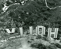 1978? Rear of new Hollywood sign
