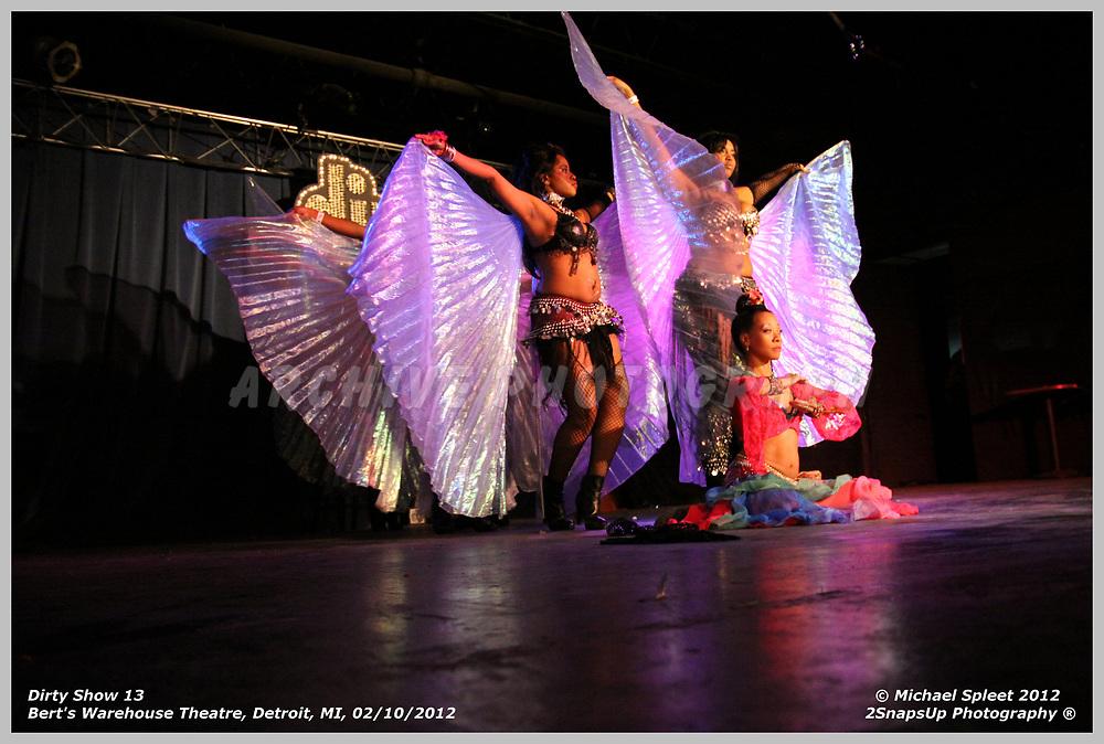 DETROIT, MI, FRIDAY, FEB. 10, 2012: Dirty Show 13, Detroit Shimmy at Bert's Warehouse Theatre, Detroit, MI, 02/10/2012.  (Image Credit: Michael Spleet / 2SnapsUp Photography)
