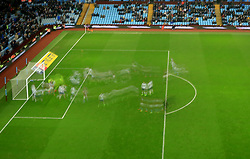 11 February 2017 - Skybet Championship - Aston Villa v Ipswich Town - Slow shutter action in the Ipswich penalty area as an Aston Villa corner comes in - Photo: Paul Roberts / Offside