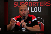 Pierre Mignoni coach of LOU during the Olympique Lyonnais presentation press conference, French Championship L1 2018/2019, at Lyon, France, on June 30, 2018 - Photo Romain Biard / Isport / ProSportsImages / DPPI