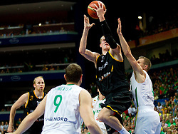 Robin Benzing of Germany during basketball game between National basketball teams of Lithuania and Germany at FIBA Europe Eurobasket Lithuania 2011, on September 11, 2011, in Siemens Arena,  Vilnius, Lithuania. Lithuania defeaed Germany 84-75. (Photo by Vid Ponikvar / Sportida)