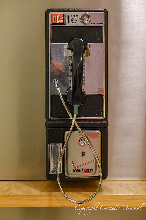 Verizon pay phone at the Asia Society in New York City.