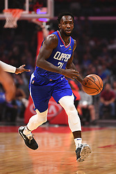 October 19, 2018 - Los Angeles, CA, U.S. - LOS ANGELES, CA - OCTOBER 19: Los Angeles Clippers Guard Patrick Beverley (21) brings the ball up the court during a NBA game between the Oklahoma City Thunder and the Los Angeles Clippers on October 19, 2018 at STAPLES Center in Los Angeles, CA. (Credit Image: © Brian Rothmuller/Icon SMI via ZUMA Press)
