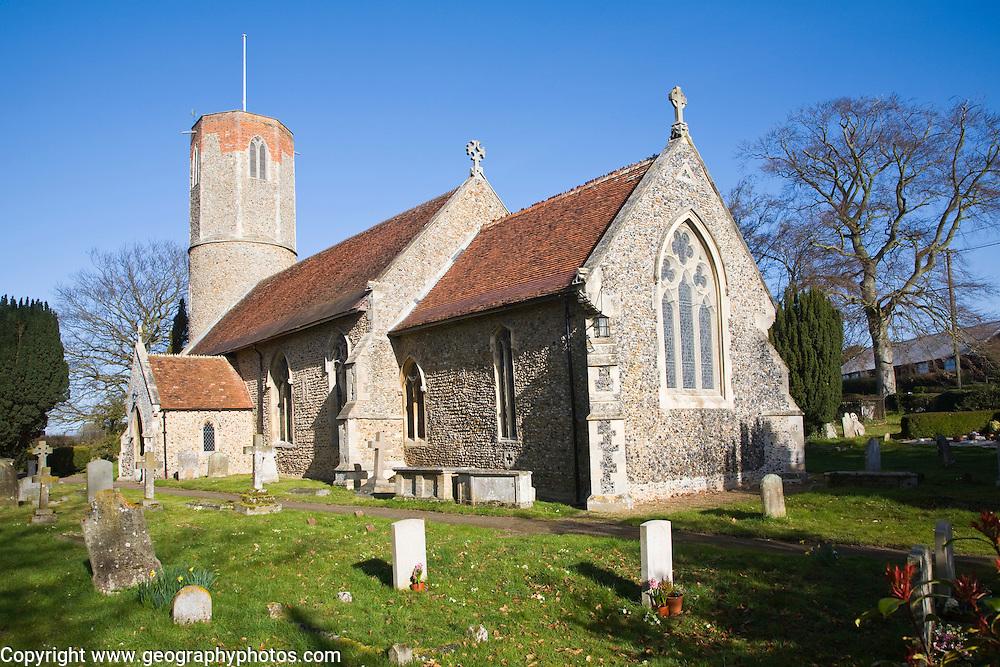 Saint Andrew parish church, Hasketon, Suffolk, England