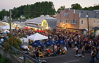 "Biketemberfest brought the crowds to take in the ""block party"" at Weirs Beach Saturday night.  (Karen Bobotas/for the Laconia Daily Sun)"