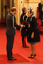 Dr. Tessa Hartmann from Glasgow is made a CBE (Commander of the Order of the British Empire) by The Duke of Cambridge at Buckingham Palace.