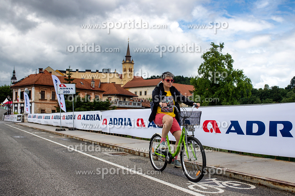 Fan on bicycle in town Novo mesto during 5th Stage of 26th Tour of Slovenia 2019 cycling race between Trebnje and Novo mesto (167,5 km), on June 23, 2019 in Slovenia. Photo by Matic Klansek Velej / Sportida
