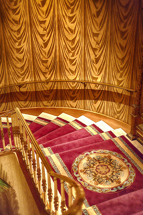 Staircase at the Saint Paul Hotel.