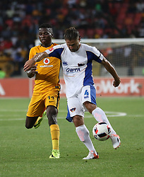 Edmore Chirambadare of Kaizer Chiefs (L) and Marc van Heerden of Chippa United during the 2016 Premier Soccer League match between Chippa United and Kaizer Chiefs held at the Nelson Mandela Bay Stadium in Port Elizabeth, South Africa on the 3rd December 2016.<br /> <br /> Photo by:   Richard Huggard / Real Time Images