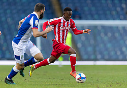 BLACKBURN, ENGLAND - Saturday, January 16, 2021: Stoke City's Rabbi Matondo during the Football League Championship match between Blackburn Rovers FC and Stoke City FC at Ewood Park. The game ended in a 1-1 draw. (Pic by David Rawcliffe/Propaganda)