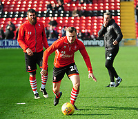 Lincoln City's Harry Anderson during the pre-match warm-up<br /> <br /> Photographer Andrew Vaughan/CameraSport<br /> <br /> The EFL Sky Bet League Two - Lincoln City v Mansfield Town - Saturday 24th November 2018 - Sincil Bank - Lincoln<br /> <br /> World Copyright © 2018 CameraSport. All rights reserved. 43 Linden Ave. Countesthorpe. Leicester. England. LE8 5PG - Tel: +44 (0) 116 277 4147 - admin@camerasport.com - www.camerasport.com