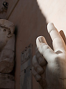 Broken pieces form the Statue of the Emperor Constantine, Palazzo Nuovo, Capitoline Museum, Rome, Italy