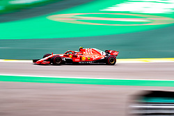 November 10, 2018 - Sao Paulo, Sao Paulo, Brazil - KIMI RAIKKONEN, of Scuderia Ferrari, during race qualifying before Sunday's Formula One Grand Prix of Brazil at Interlagos circuit, in Sao Paulo. (Credit Image: © Paulo LopesZUMA Wire)