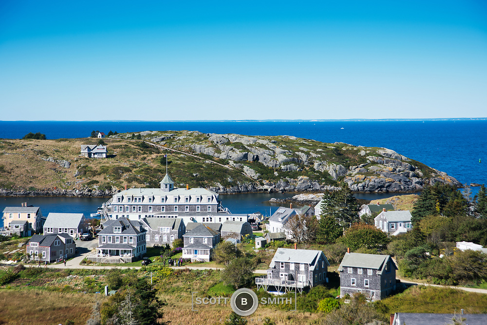 Morning view over to Manana Island, taken next to the Monhegan Island lighthouse and museum