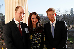 The Duke and Duchess of Cambridge with Prince Harry at the Institute of Contemporary Arts in central London where they outlined the next phase of the mental health Heads Together campaign.