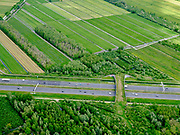 Nederland, Utrecht, Gemeente Vijfheerenlanden, 14-05-2020; Ecoduct Autena over de A2, ten zuiden van knooppunt Everdingen. Ook bekend als Ecoduct Autenase Kade<br /> Ecoduct motorway A2.<br /> aerial photo (additional fee required);<br /> copyright foto/photo Siebe Swart