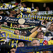 Fenerbahce's Supporters fans during their UEFA Europa League Quarter Final first match Fenerbahce between Lazio at Sukru Saracaoglu stadium in Istanbul Turkey on Thursday 04 April 2013. Photo by Aykut AKICI/TURKPIX