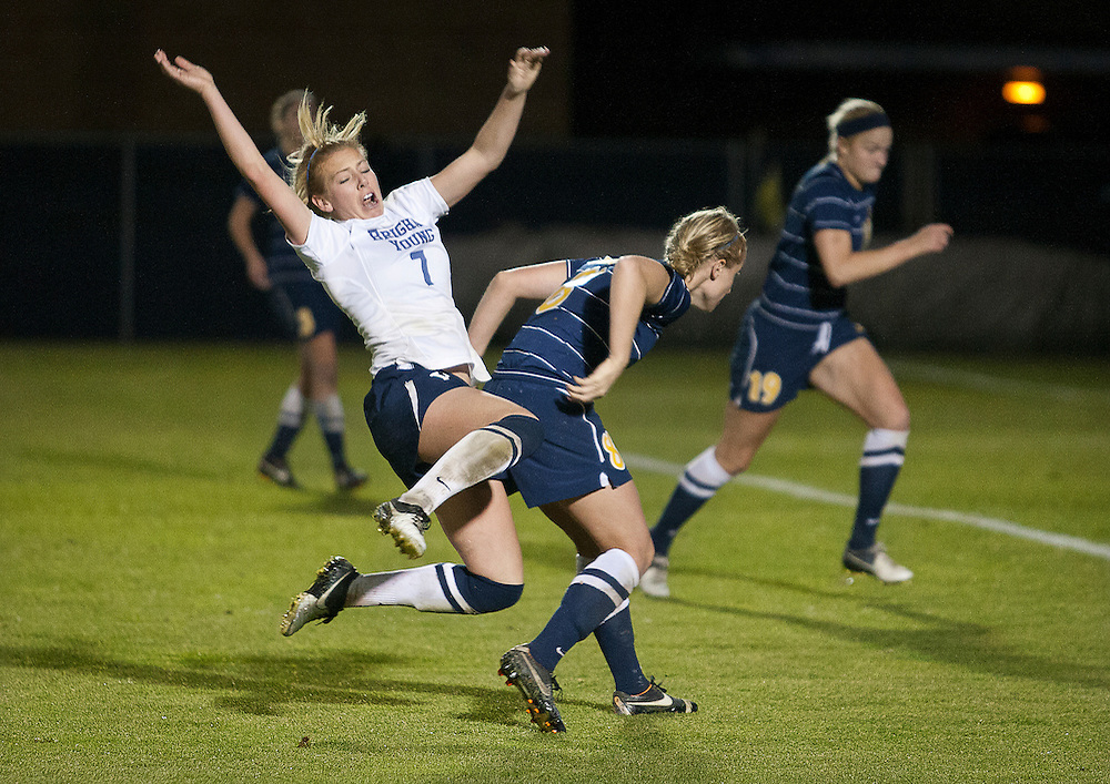 NCAA Women's Soccer Sweet 16 match between BYU and Marquette University at BYU,Saturday, Nov. 17, 2012.